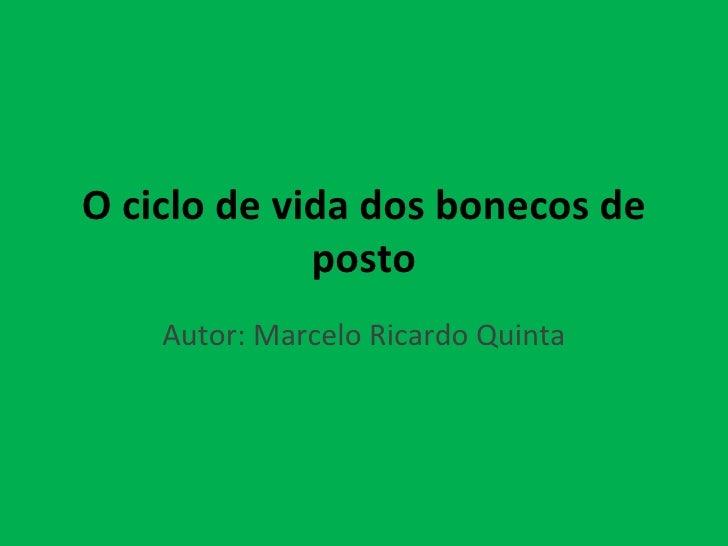O ciclo de vida dos bonecos de posto Autor: Marcelo Ricardo Quinta