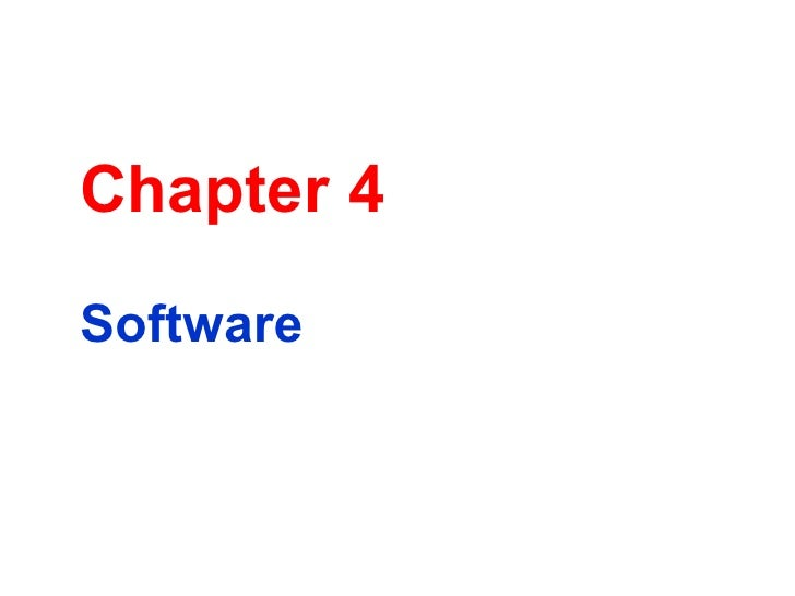 Chapter 4 Software