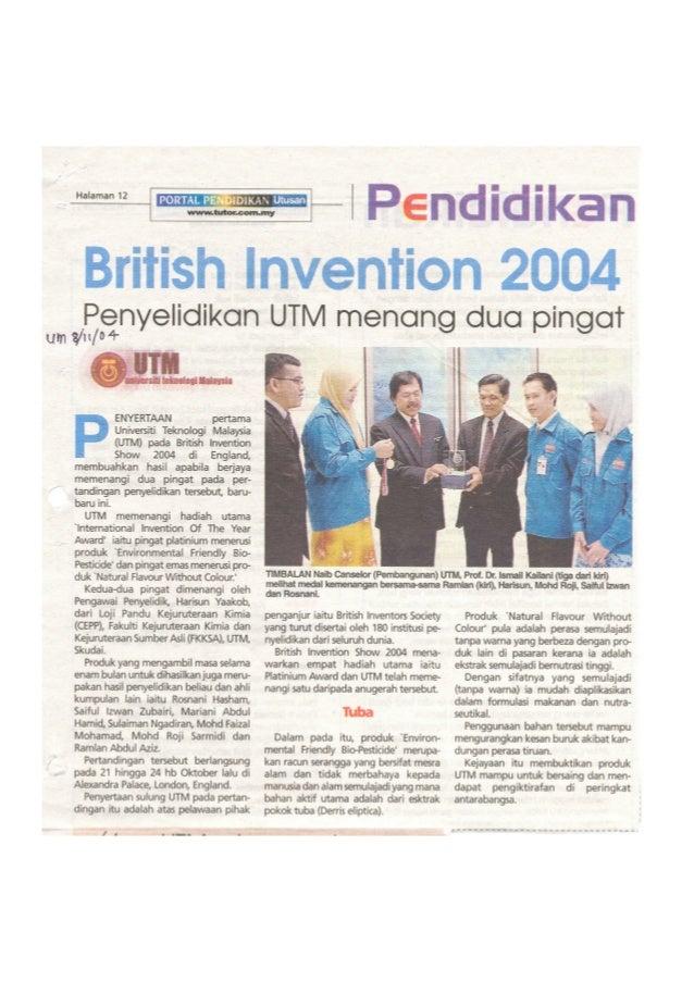 British Invention Show (BIS) Newspaper Article 2004