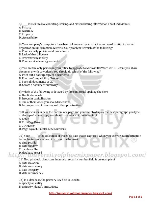 Bis 220 Final Exam University Of Phoenix Final Exams Study Guide 1