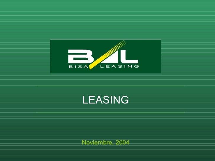 LEASING Noviembre, 2004