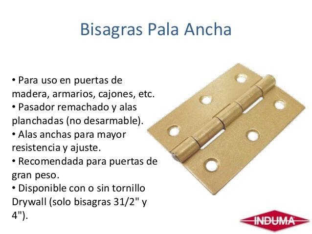 Bisagras puertas - Bisagras para madera ...