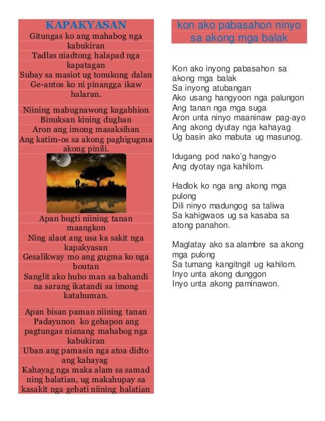 Bisaya poems Slide 3