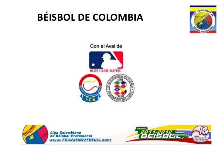 BÉISBOL DE COLOMBIA