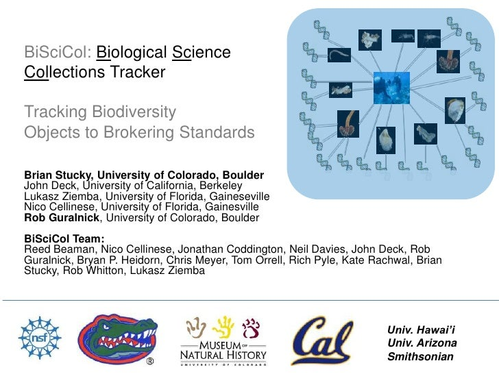 BiSciCol: Biological ScienceCollections TrackerTracking BiodiversityObjects to Brokering StandardsBrian Stucky, University...