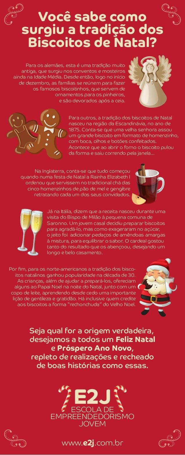 Você sabe como surgiu a tradição dos Biscoitos de Natal? ESCOLA DE EMPREENDEDORISMO JOVEM Para os alemães, esta é uma trad...