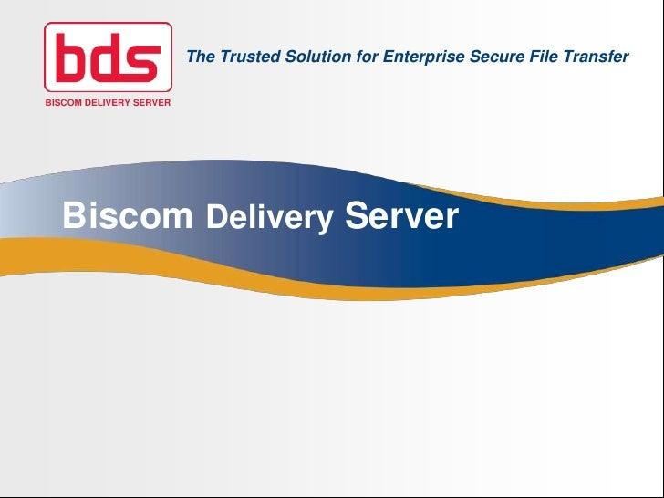 Delivery Server Sales Presentation