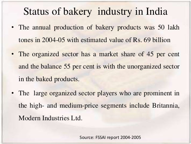 Bakery industry in india