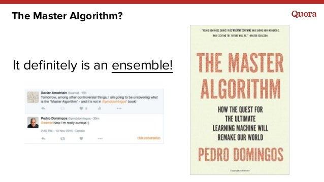 The Master Algorithm? It definitely is an ensemble!