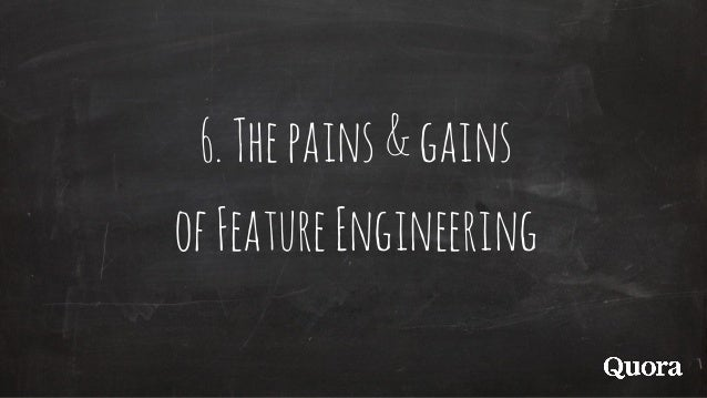 6.Thepains&gains ofFeatureEngineering