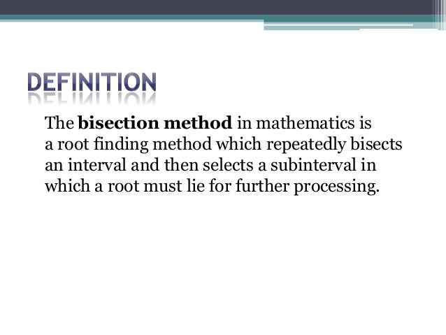 Solving non-linear equations (root finding) ppt video online.