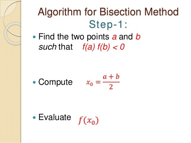 Ppt bisection method powerpoint presentation id:6108819.