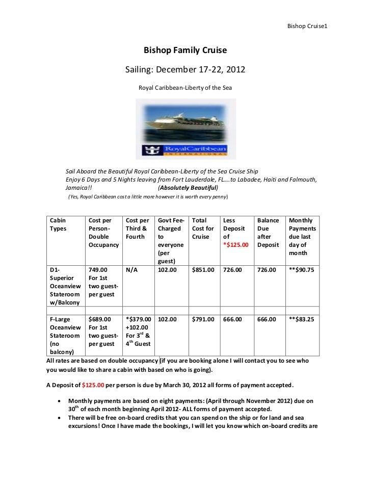 Bishop Cruise1                                           Bishop Family Cruise                                   Sailing: D...