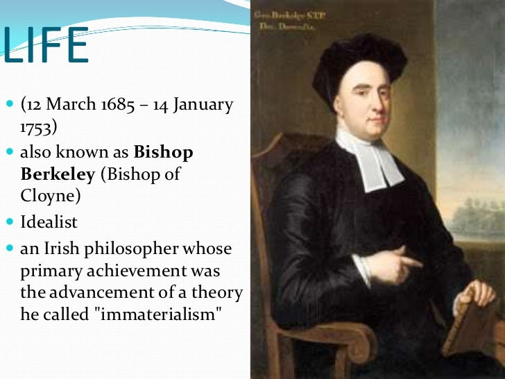 george berkeley an essay towards a new theory of vision George berkeley (i2 march i685-14 january 1753) john holland princeton university an essay towards a new theory of vision, in 1709 and expounded his epis.