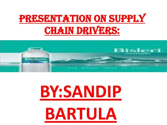 Presentation on supply chain drivers:  BY:SANDIP BARTULA