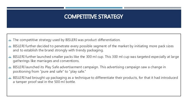 bisleri marketing strategy Topic list posted on identifying weak points & strengthening market strategy in bisleri formulation of marketing strategies to improve market share of xyz.