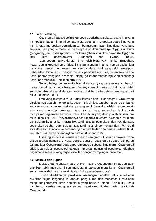 Laporan Praktikum Oseanografi Universitas Brawijaya