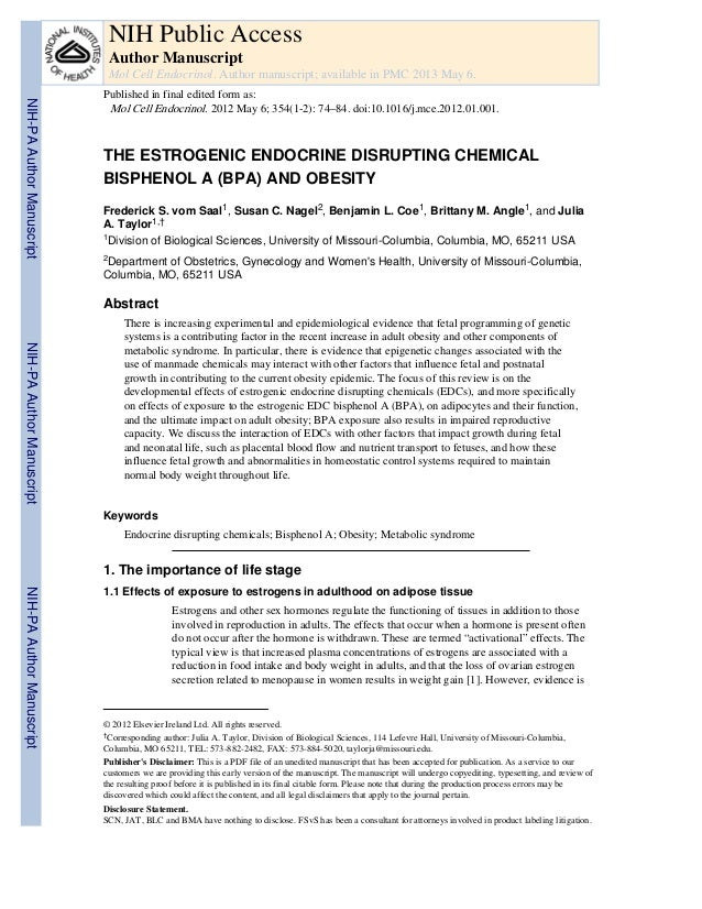 NIH Public Access Author Manuscript Mol Cell Endocrinol. Author manuscript; available in PMC 2013 May 6.  NIH-PA Author Ma...