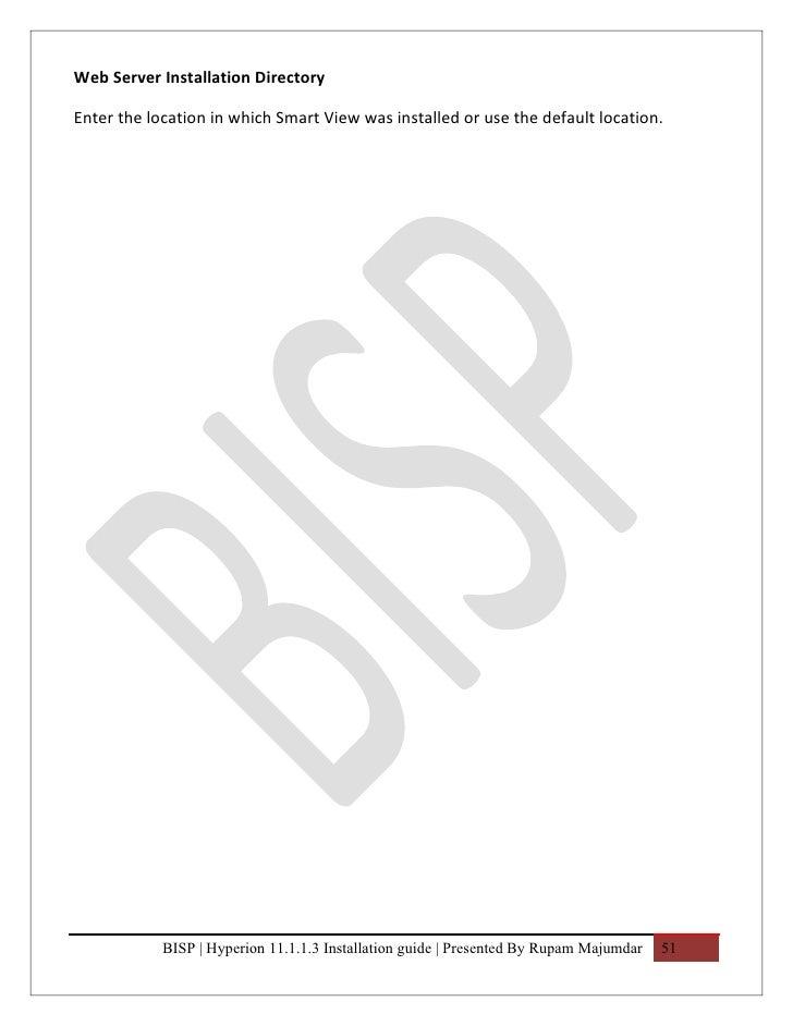 Bisp hyperion11 1 1 3 installation guide