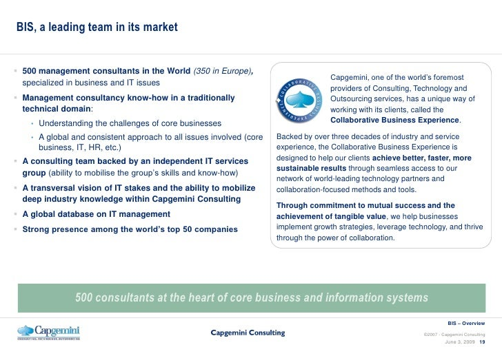 Business Amp Management Consultants : Capgemini consulting business information strategy overview