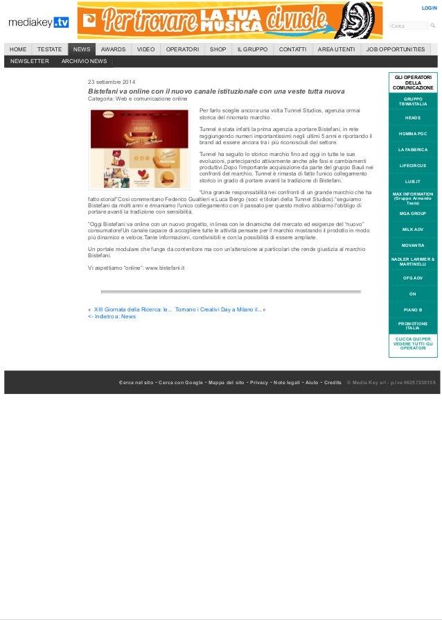 Cerca  LOGIN  HOME TESTATE NEWS AWARDS VIDEO OPERATORI SHOP IL GRUPPO CONTATTI AREA UTENTI JOB OPPORTUNITIES  23 settembre...