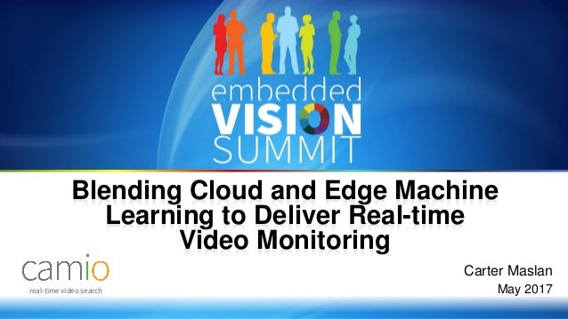 Copyright © 2017 Camio 1 real-time video search Carter Maslan May 2017 Blending Cloud and Edge Machine Learning to Deliver...