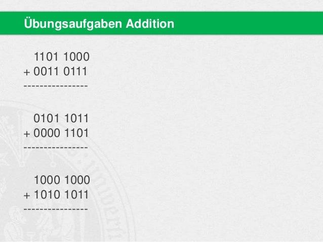 binärsystem addition wo kann ich bitcoins in schweiz verwenden