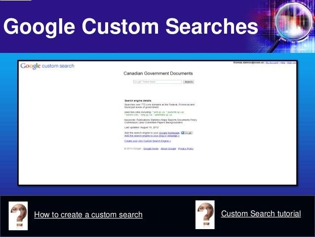 Google Custom Searches  How to create a custom search  Custom Search tutorial