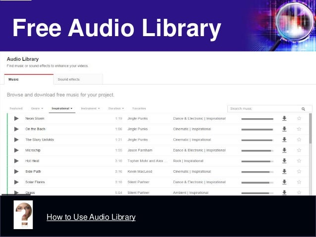 Free Audio Library  How to Use Audio Library