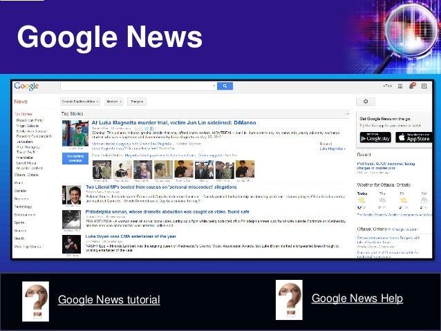Google News  Google News tutorial  Google News Help