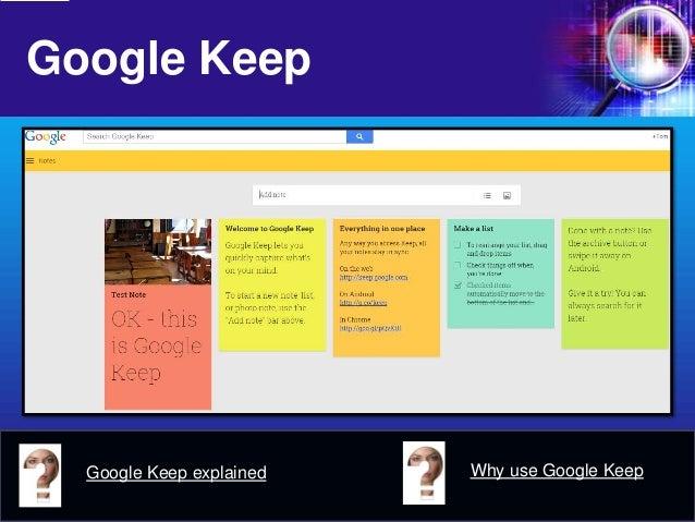Google Keep  Google Keep explained  Why use Google Keep