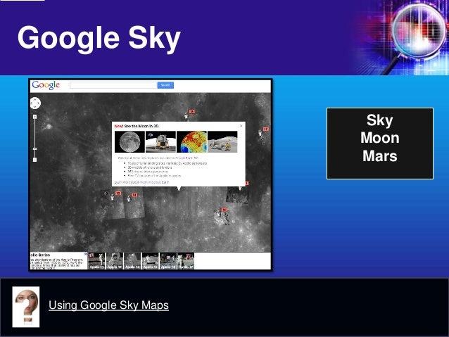 Google Sky  Sky  Moon  Mars  Using Google Sky Maps