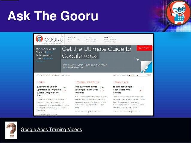 Ask The Gooru  Google Apps Training Videos