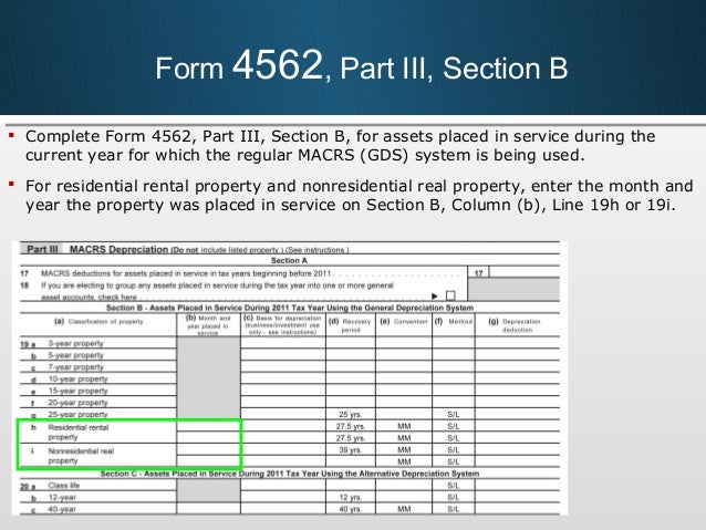 How To Fill Out Form 4562 For Rental Property Seatledavidjoel