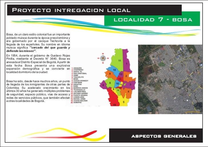 Proyecto intregacion local                          localidad 7 - bosaBosa, de un claro estilo colonial fue un importantep...