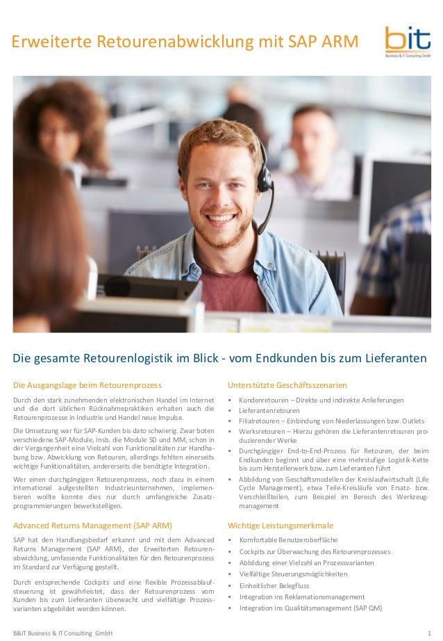 B&IT-Broschüre Erweiterte Retourenabwicklung (SAP ARM)