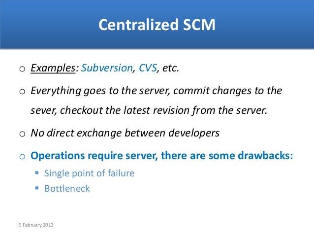 centralized scmo examples  subversion  cvs
