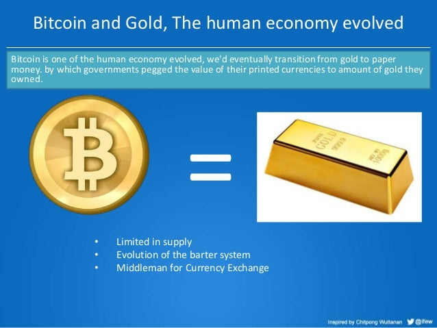 Bitcoin and Gold, The human economy evolved Bitcoin is one of the human economy evolved, we'd eventually transition from g...