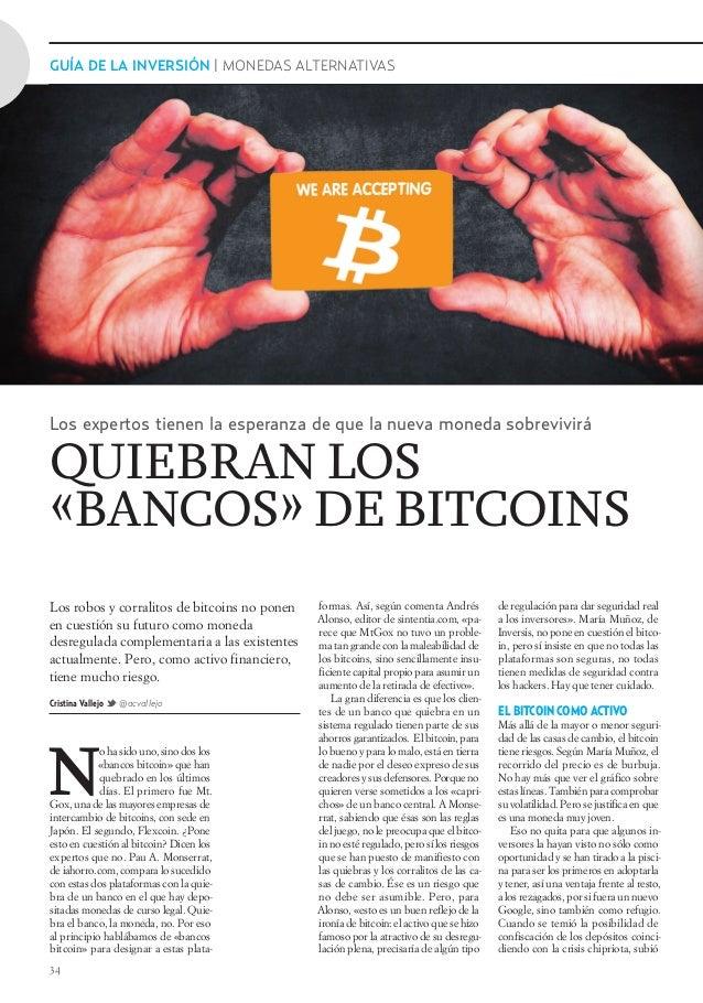 34 GUÍA DE LA INVERSIÓN | MONEDAS ALTERNATIVAS de regulación para dar seguridad real a los inversores». María Muñoz, de In...