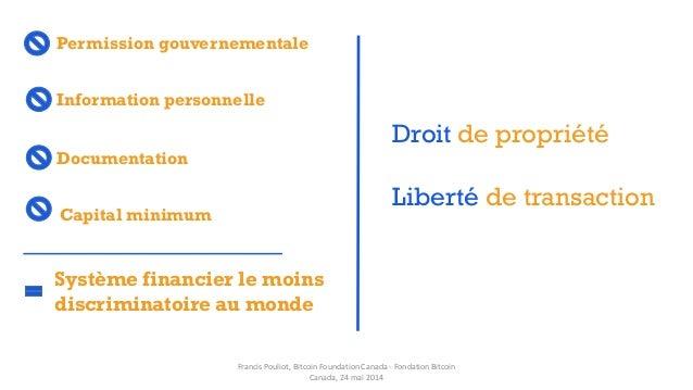 Permission gouvernementale Système financier le moins discriminatoire au monde Documentation Capital minimum Information p...