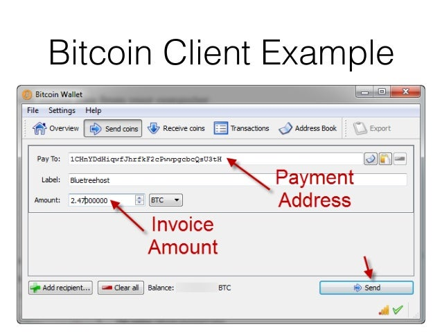 Bitcoin Client Example 20 Wallet