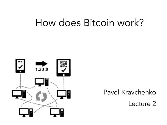 How does Bitcoin work? Pavel Kravchenko Lecture 2