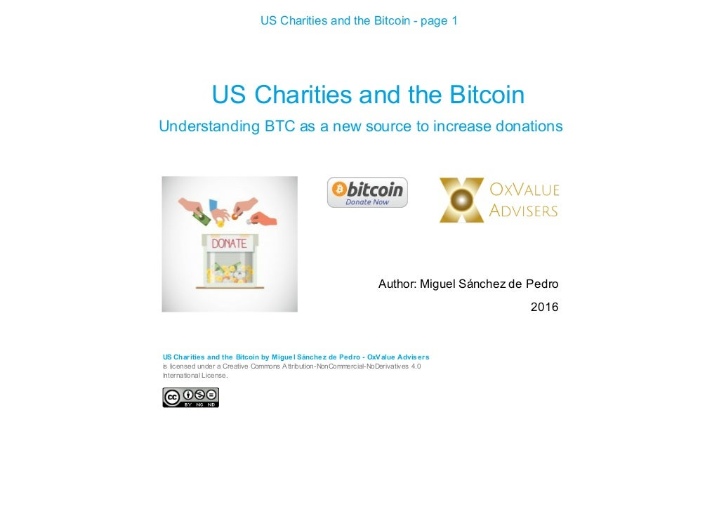 CHARITIES AND THE BITCOIN - cover