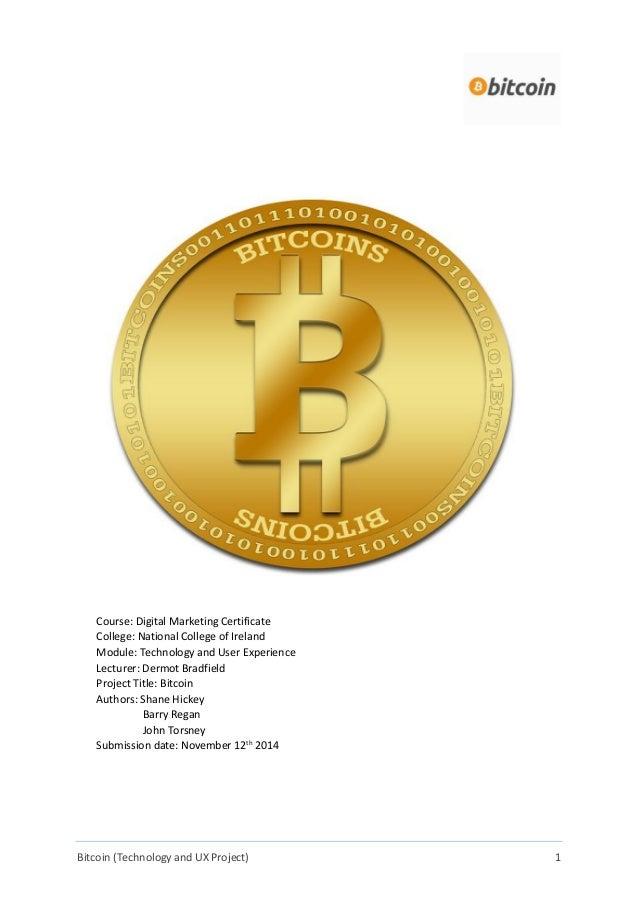 Bitcoin as an Emerging Technology Written Report