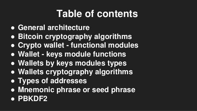 Bitcoin cryptography