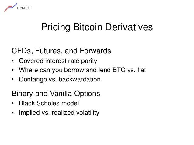 Bitcoin Derivatives 21 Pricing