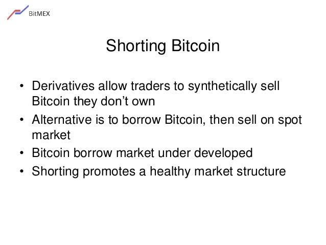 Bitcoin Derivatives Financial Products 7 Shorting