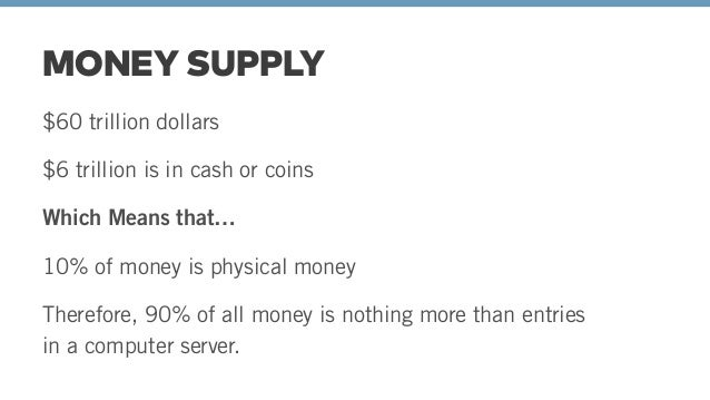 90% OF MONEY IS A DIGITAL CURRENCY ON A LEDGER