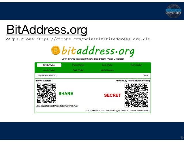 Bitcoin Keys, Addresses & Wallets