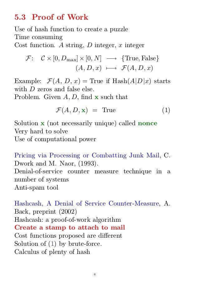 Bitcoin Math Problem Example